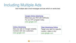 The image shows you how it looks if you have multiple Google Ads