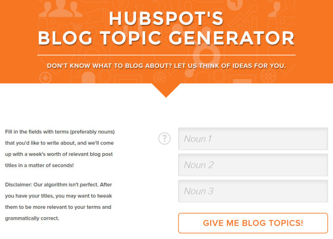 Showing you the landing page for hubspot.