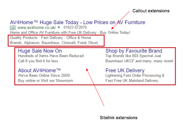 Make your ad stand out by using Google Ads extensions