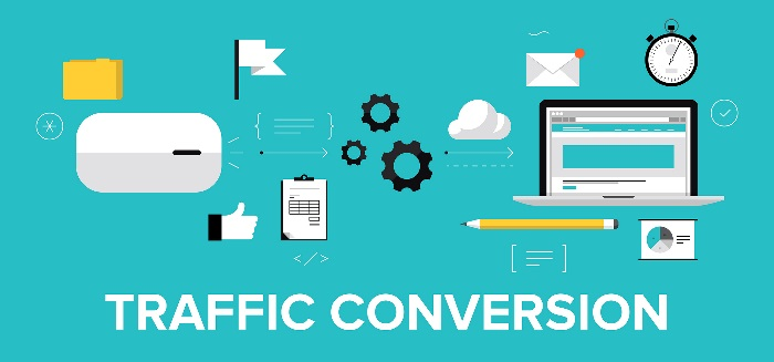 The image shows the items you need in order for traffic conversion.