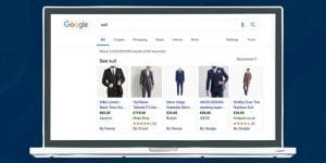 An Image of a what a shopping ad looks like in Google.