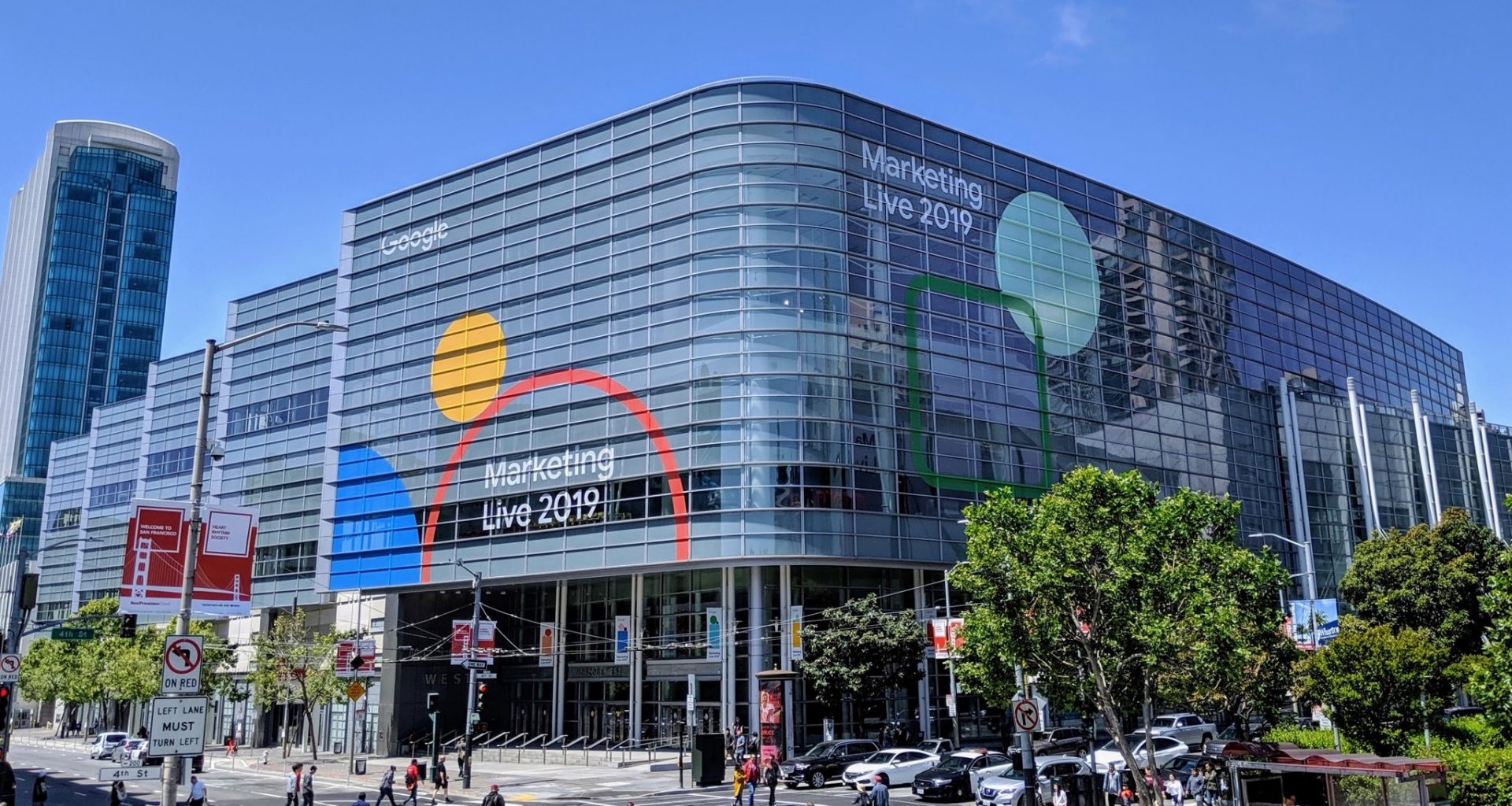 The Google office in San Francisco promoting Google Marketing Live 2019