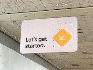 A sign from the Expo