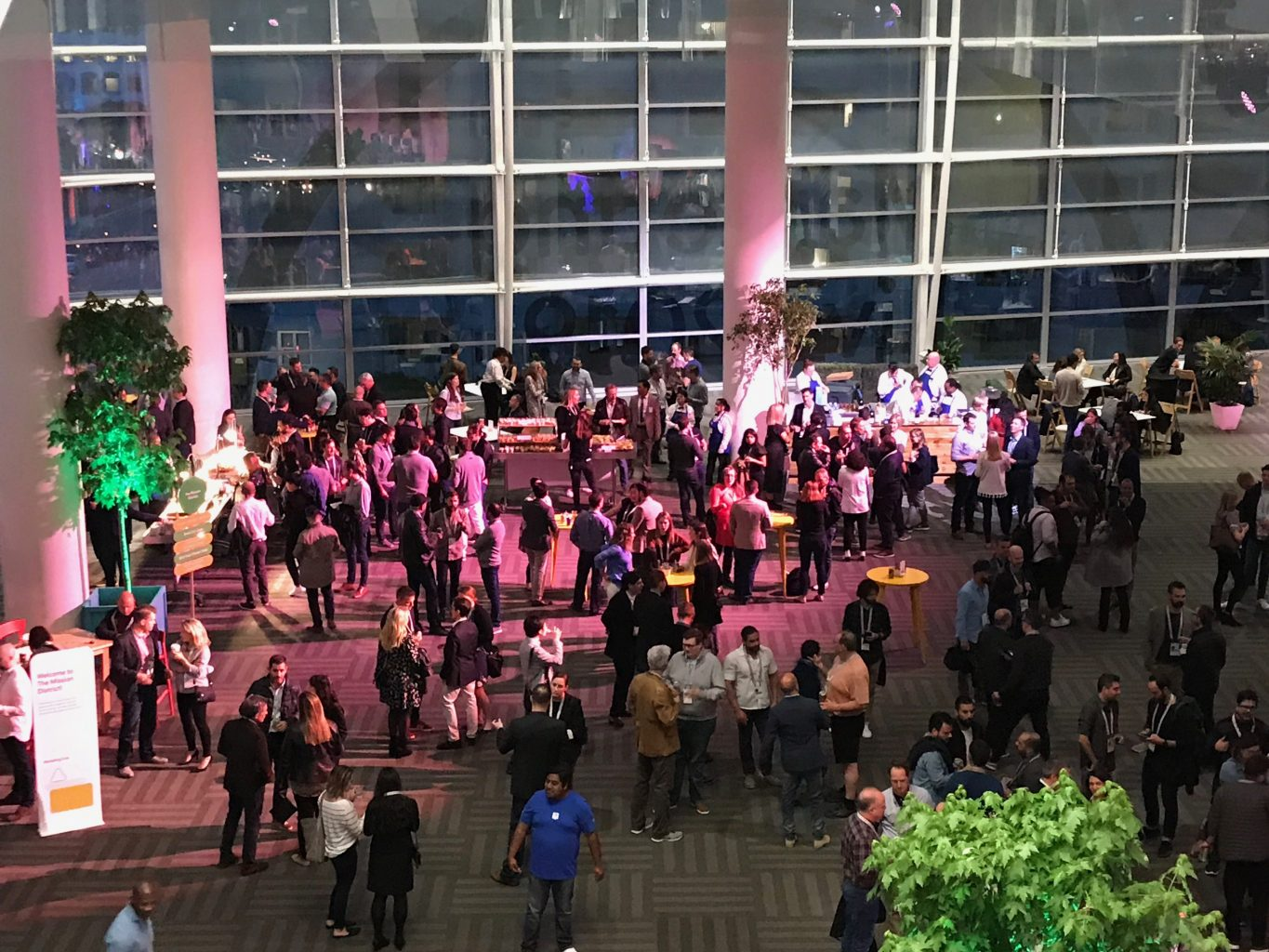 A crowd of people at Google Marketing Live 2019