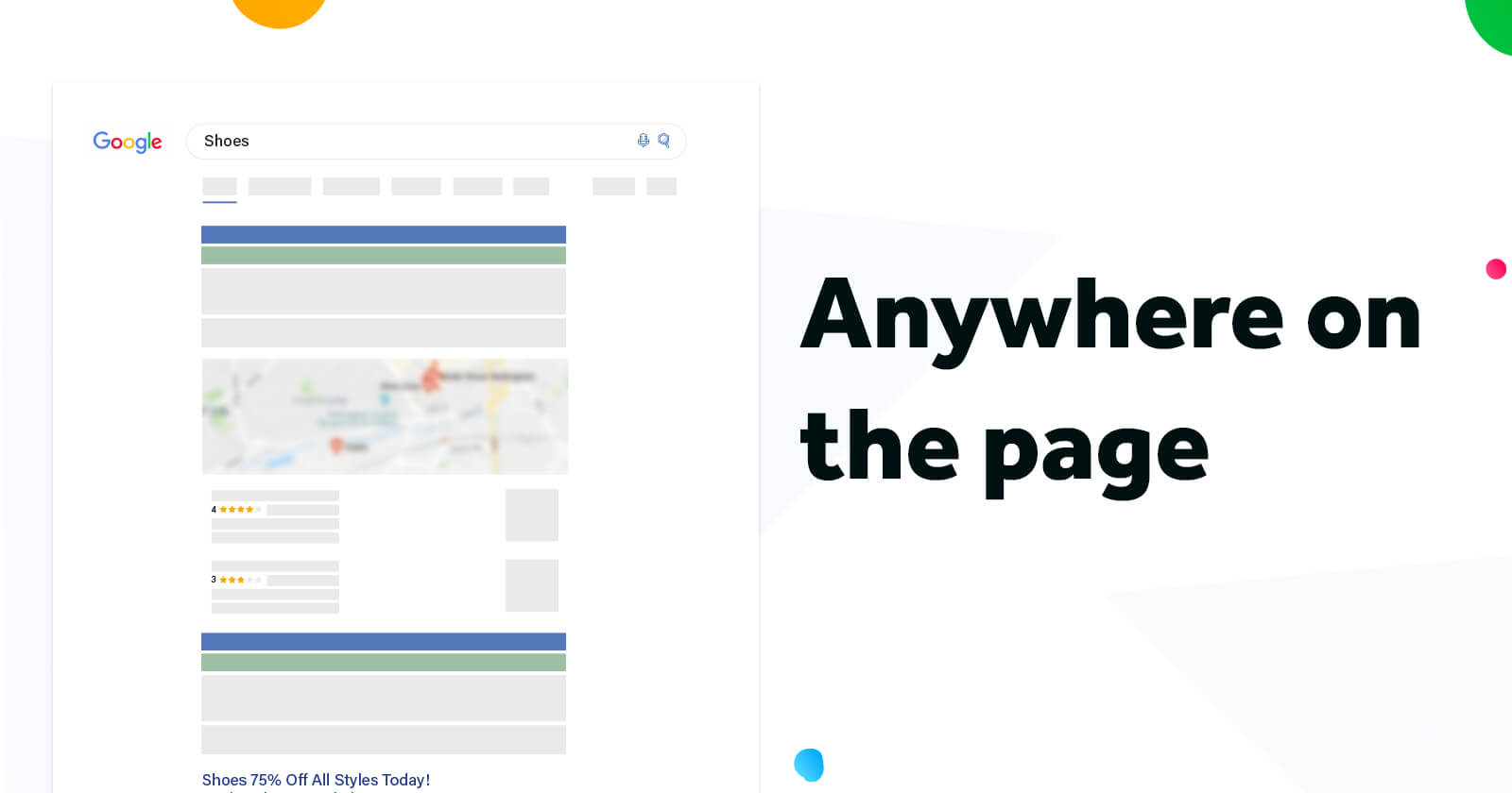 This image shows what it looks like to be anywhere on the page for Google Ads