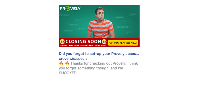 Did you forget to set-up your Provely account?