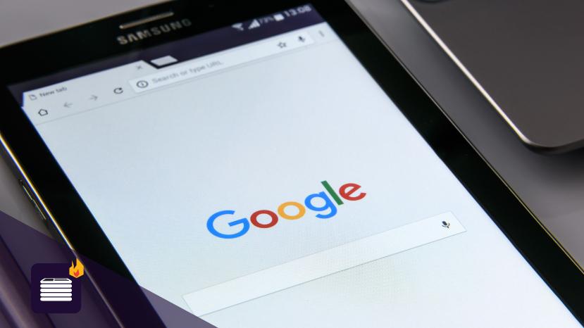 Google on a Samsung Tablet