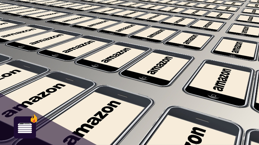 Amazon on a series of iPhones