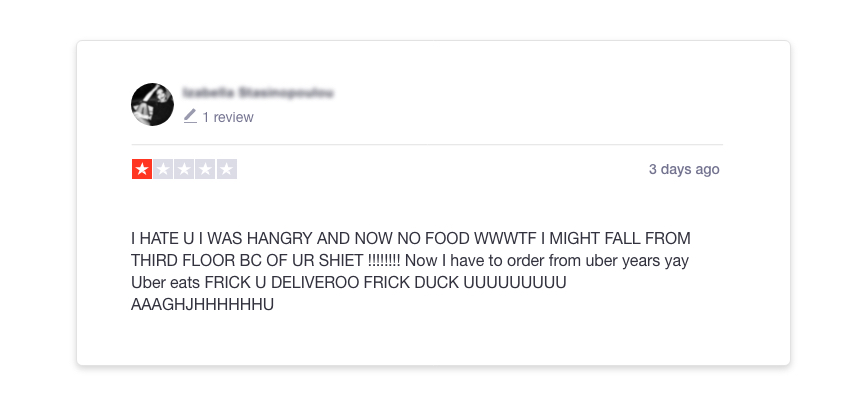 Deliveroo review
