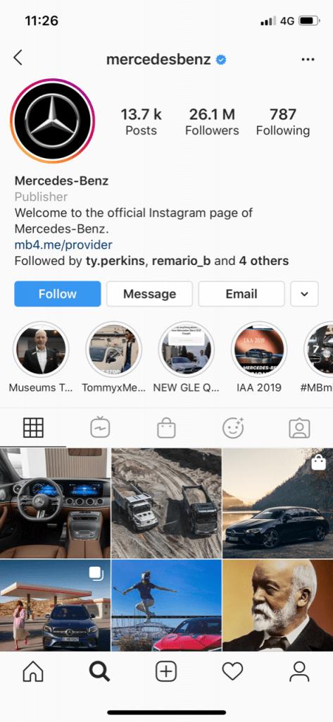 Mercedes Benz Instagram