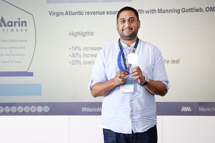 Puneet with his Marin EMEA Award