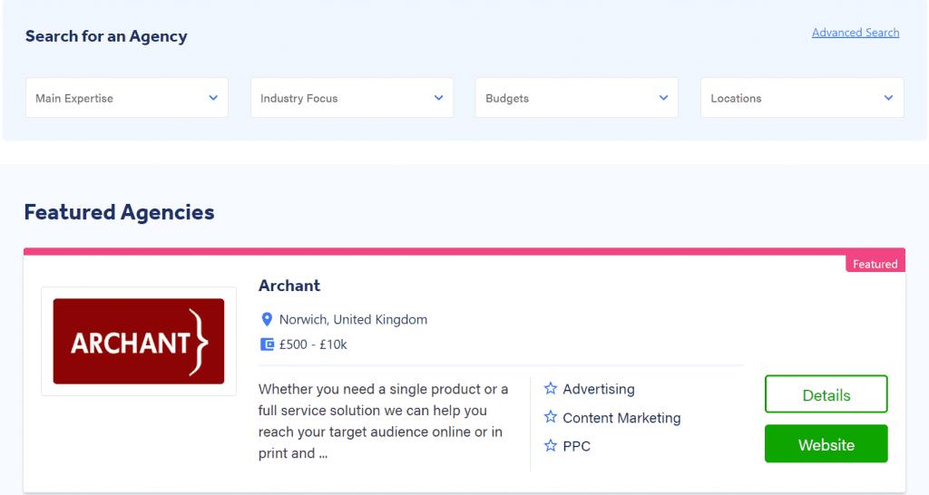Adzooma Marketplace page