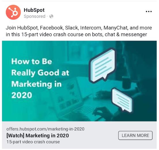 Hubspot link feed ad