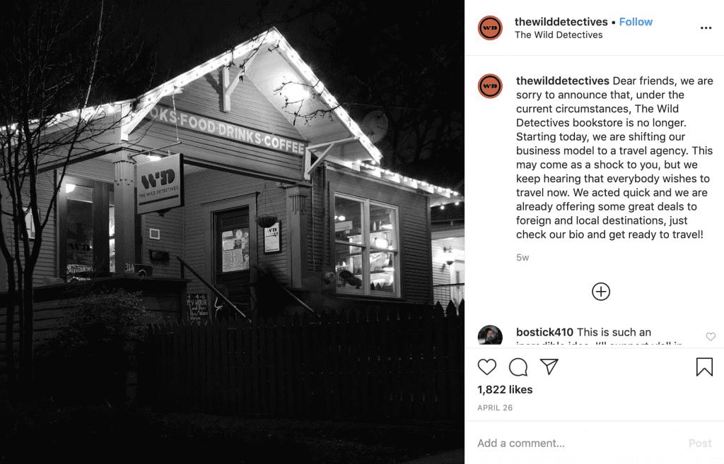 The Wild Detectives Instagram post