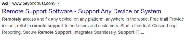 Remote support software