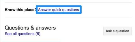 A Questions & Answers infobox on Google