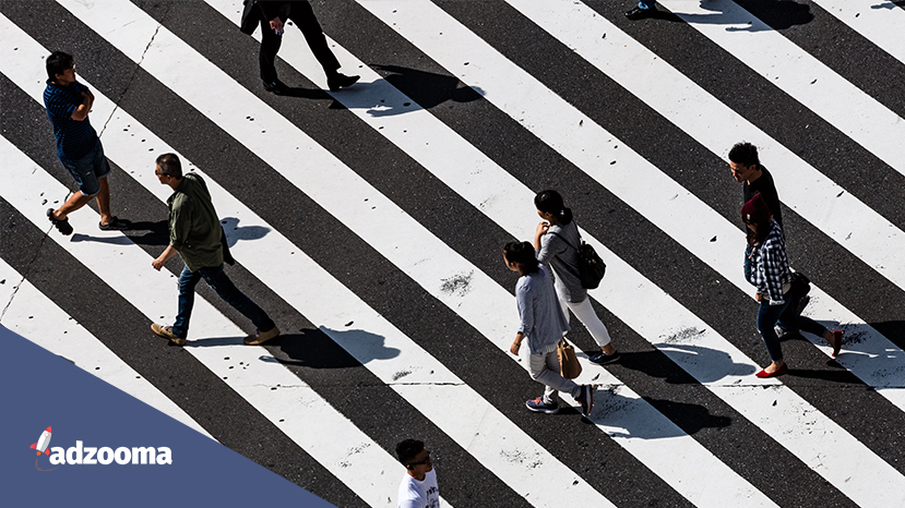 People crossing a road