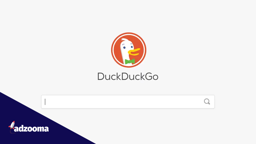DuckDuckGo search screen