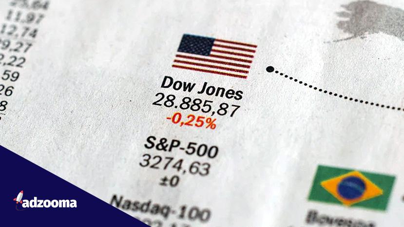 Dow Jones price on a newspaper