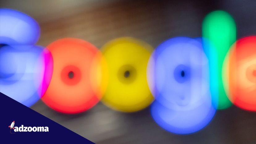 The Google logo out of focus