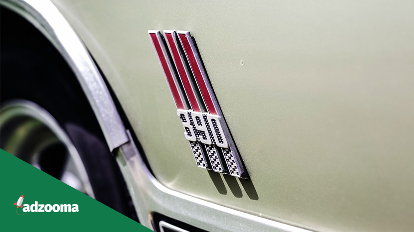 The badge of a Ford Mustang GT 390