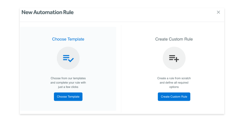 Create a new automation rule in Adzooma