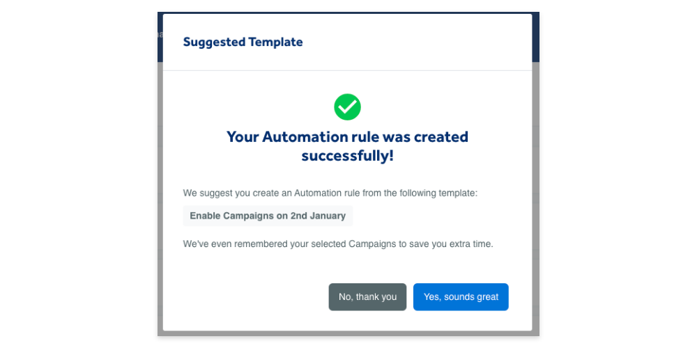 Get smart automation rule suggestions with Adzooma